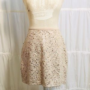 NWT H&M Cream Sequin Straight Skirt size L